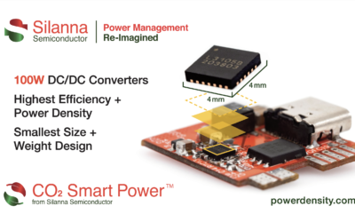 Silanna Semiconductor Extends Power of Highest Efficiency, Highest Power Density DC/DC Converter Family to 100W